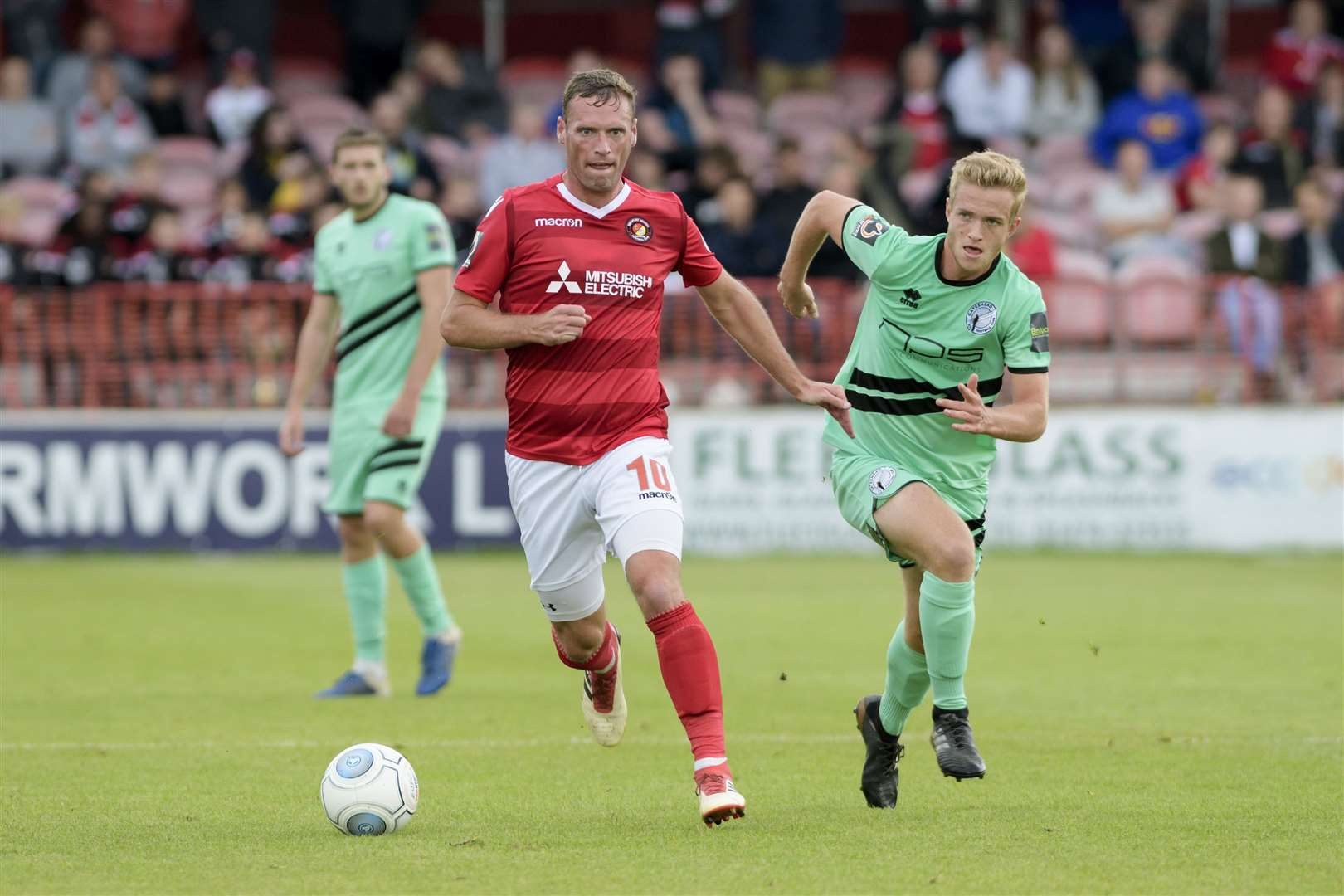 Andy Drury on the ball for Ebbsfleet Picture: Andy Payton