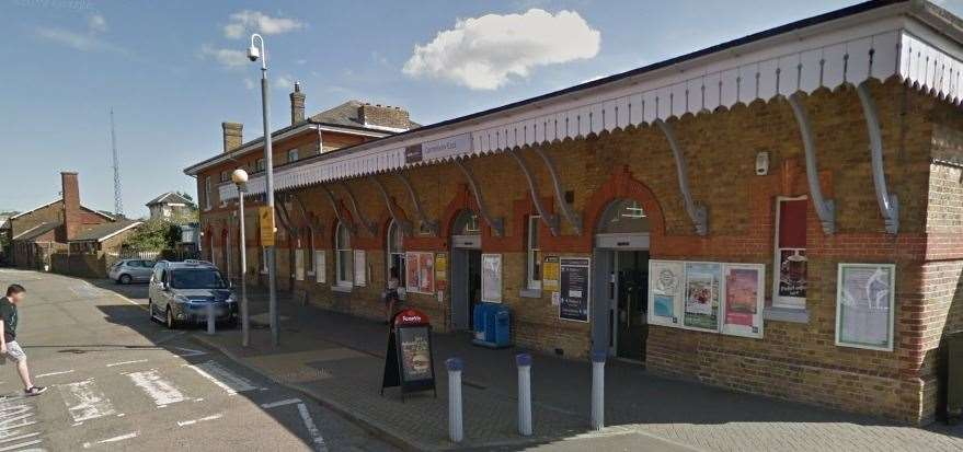 It happened at Canterbury East train station. Picture: Google street view