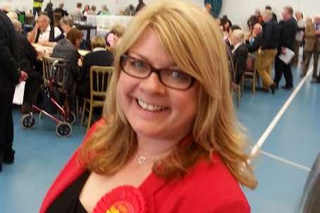 Claire Jeffrey, the first Labour councillor on Shepway since 2007.