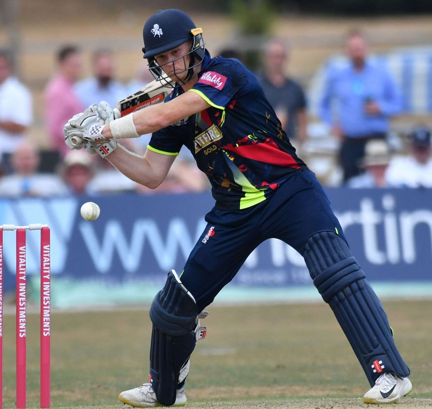 Kent's Sam Billings hit a career-best 87 for England Picture: Keith Gillard