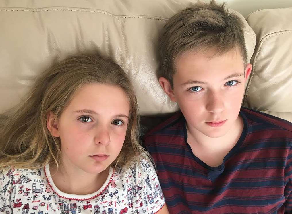 Gemma Hutley-Reynolds' children, Faye and Joshua