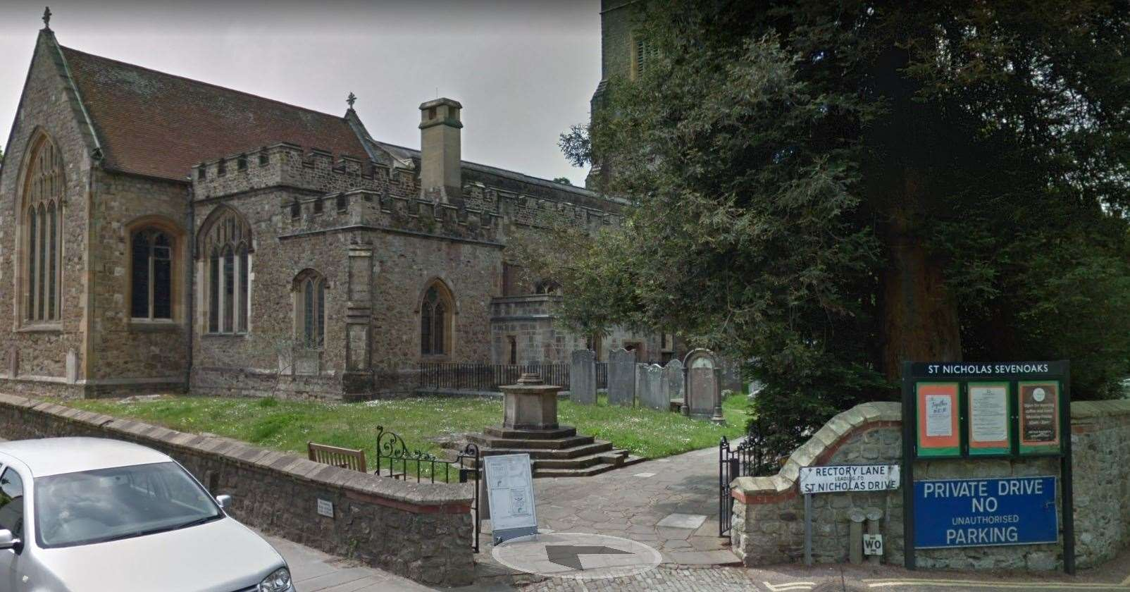 St Nicholas Church, Rectory Lane in Sevenoaks - Picture from Google Maps