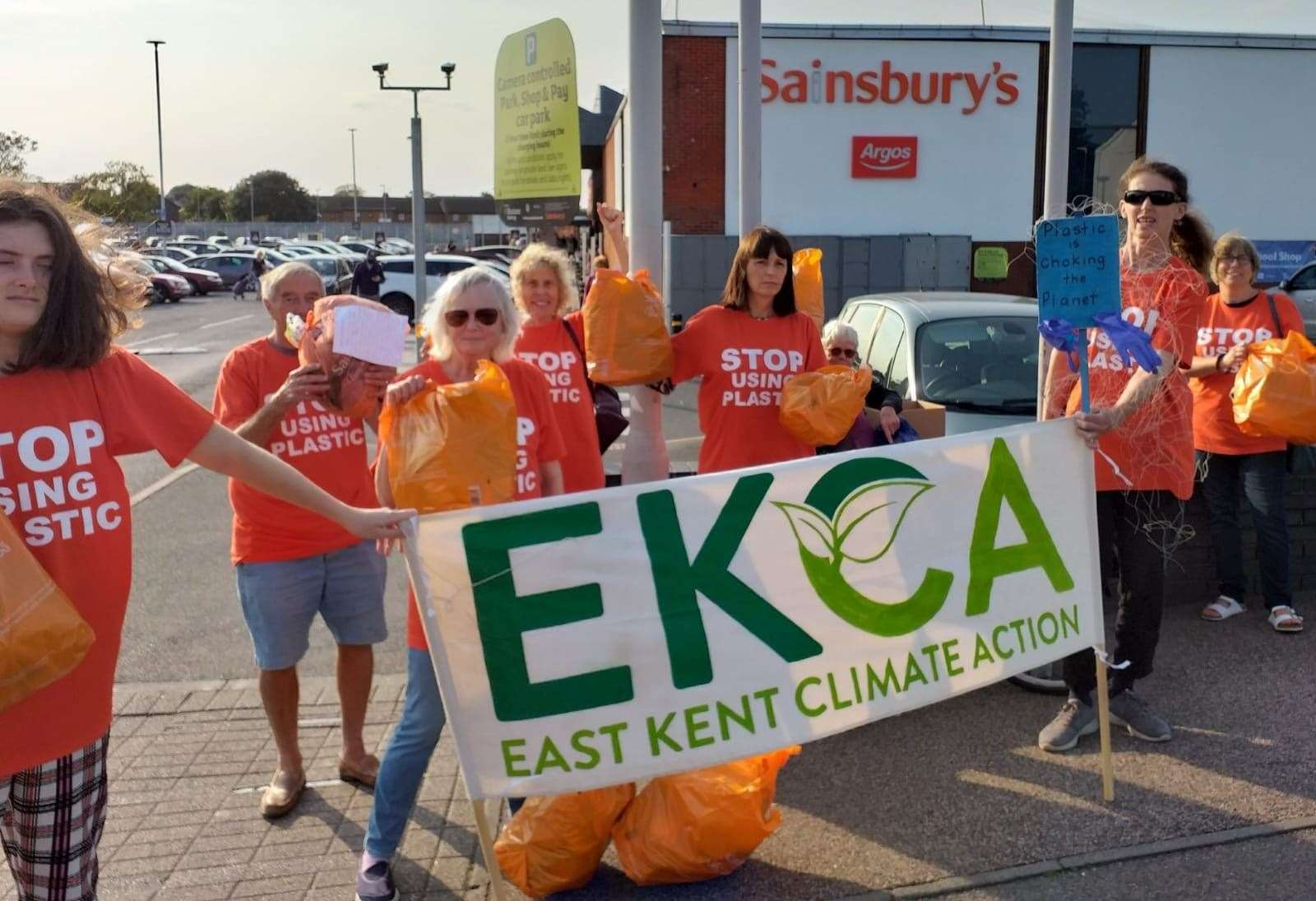 East Kent Climate Action hold a protest outside Sainsbury's in Deal Picture: Helen O'Brien