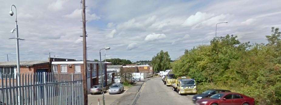 The rave took place at an empty warehouse in Mark Way, Swanley. Picture: Google Maps