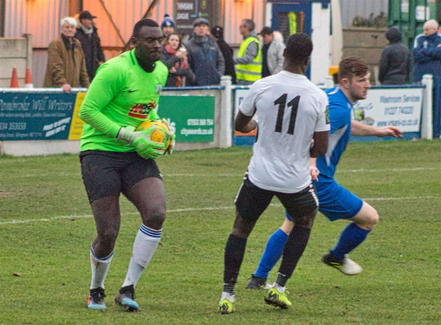 George Kamurasi in action for Herne Bay