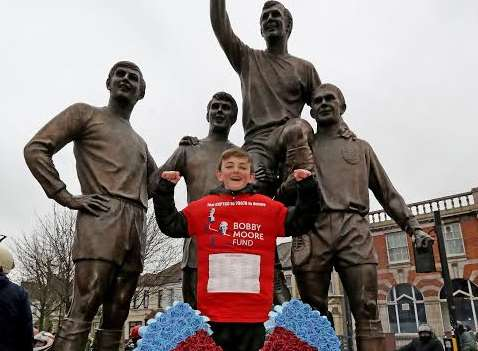 Jonjo has raised £200,000 for for the Bobby Moore Fund for Cancer Research UK