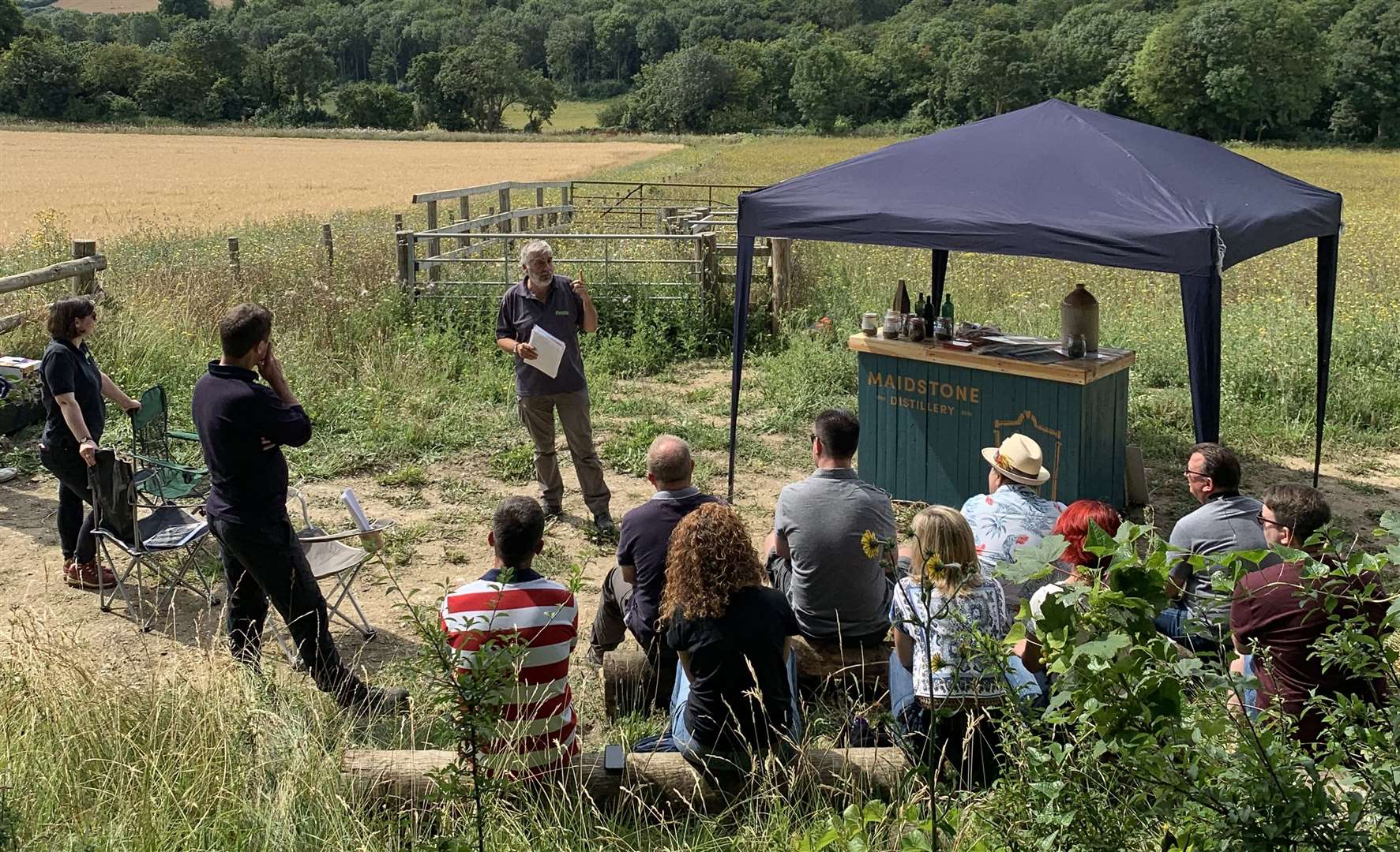 Maidstone Distillery foraging ingredients from Plantlife's flagship nature reserve in Cuxton for a new gin (15147078)