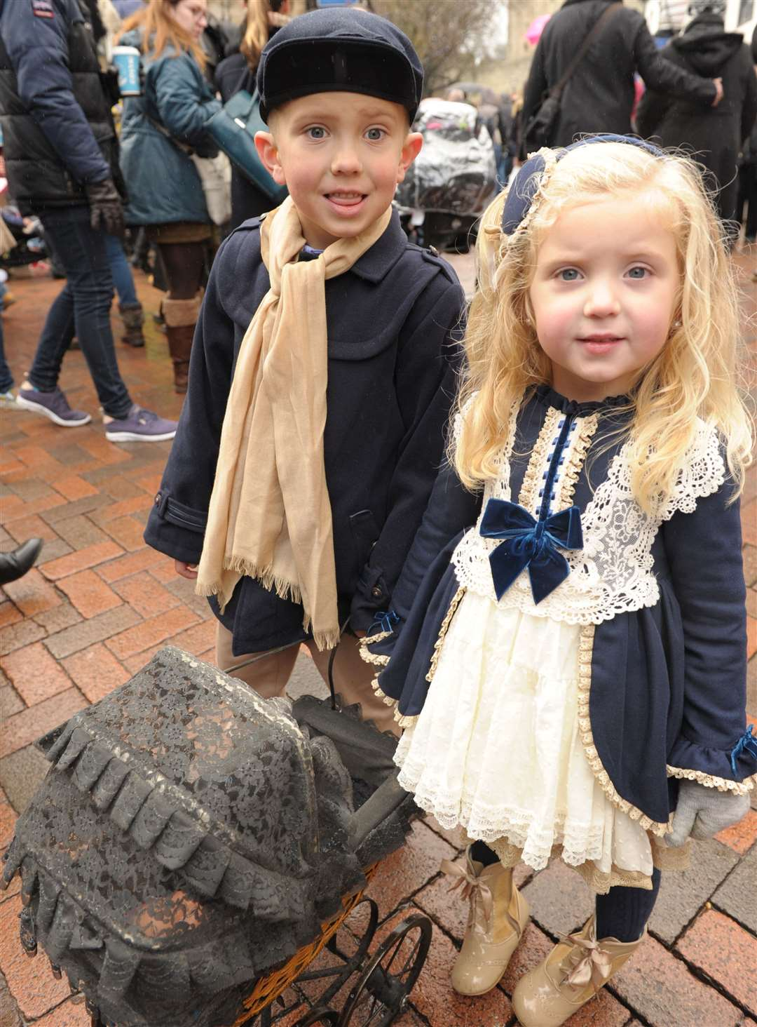 Tyler and Annabella at last year's Christmas Festival Picture: Steve Crispe