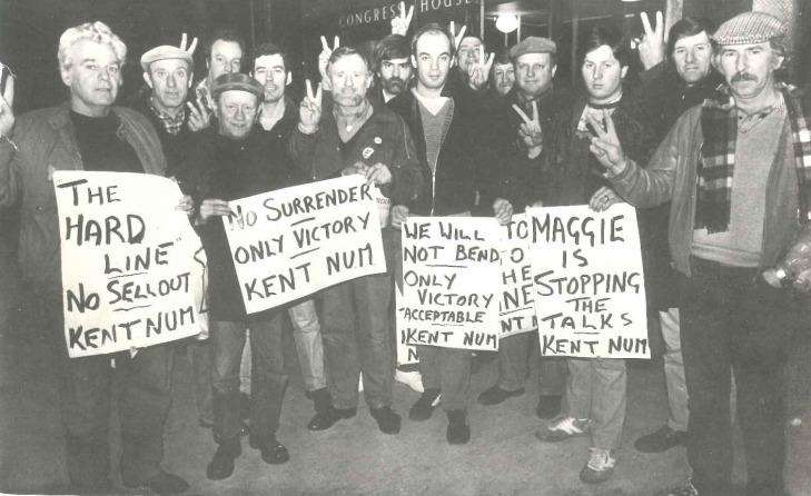 Charlie Sheavills organised the picket lines in Kent and Essex during the 1984-85 miners strike. Picture courtesy of the Sheavills family