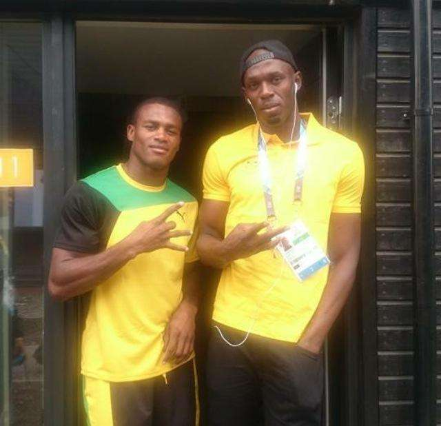 Usain Bolt was one of the many stars that Chev got to know during his time with team Jamaica at the Commonwealth Games.