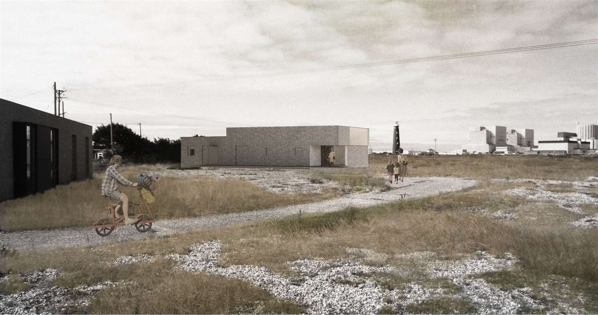 Proposed external approach of the renovated pumping station.  Photo: MS-DA / Johnson Naylor