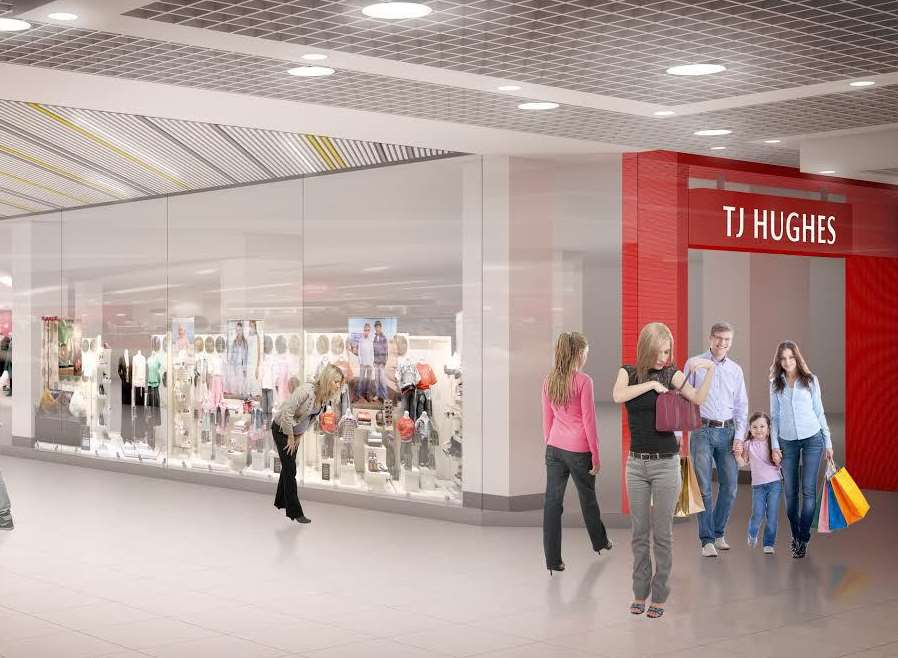 An artists' impression of the new TJ Hughes store
