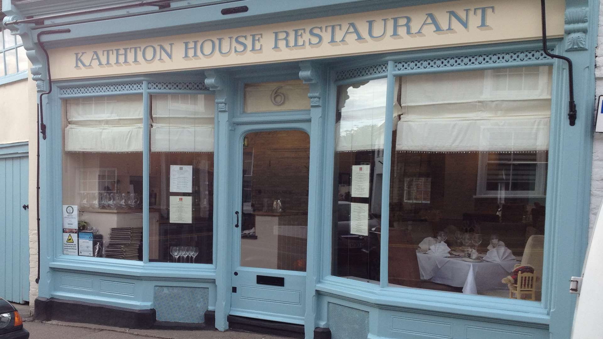 Kathton House, in Sturry, is Kent's best restaurant according to TripAdvisor