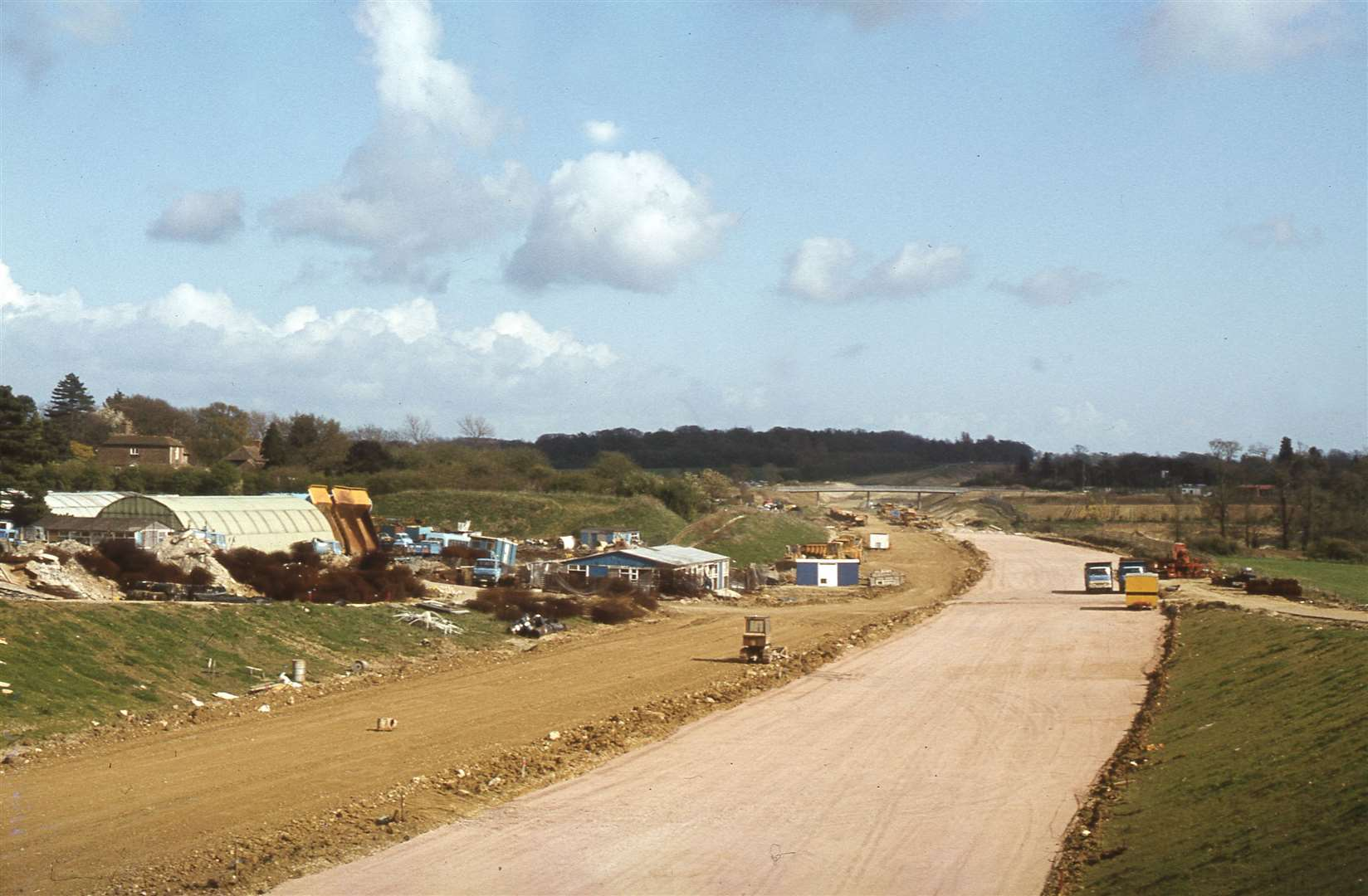 The section of the M20 nearing completion in 1980 and beside the once grand house named Crooksfoot. Picture: Neville Marsh