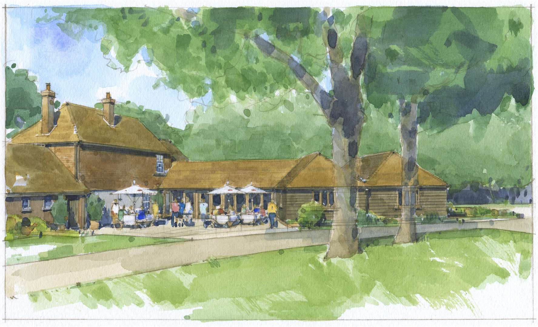 An artist's impression from 2010 shows plans for The Old Mill, which came to fruition in 2012