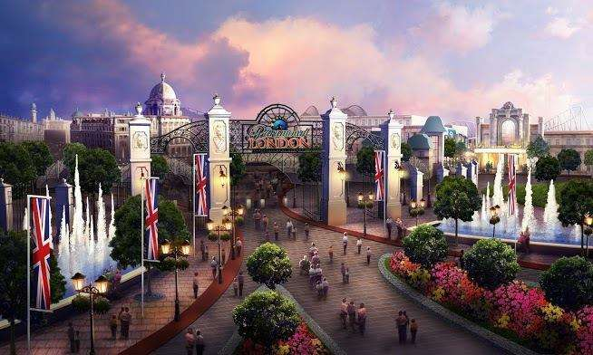 How the entry gate to was meant to look when the park was originally planned