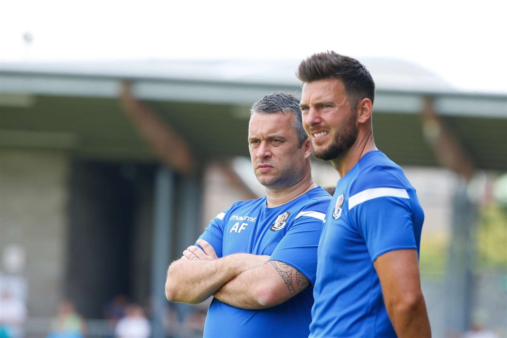 Dartford managers Adam Flanagan, left, and Jamie Coyle. Picture: Andy Jones