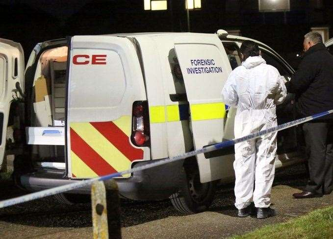 A forensics team in Maidstone