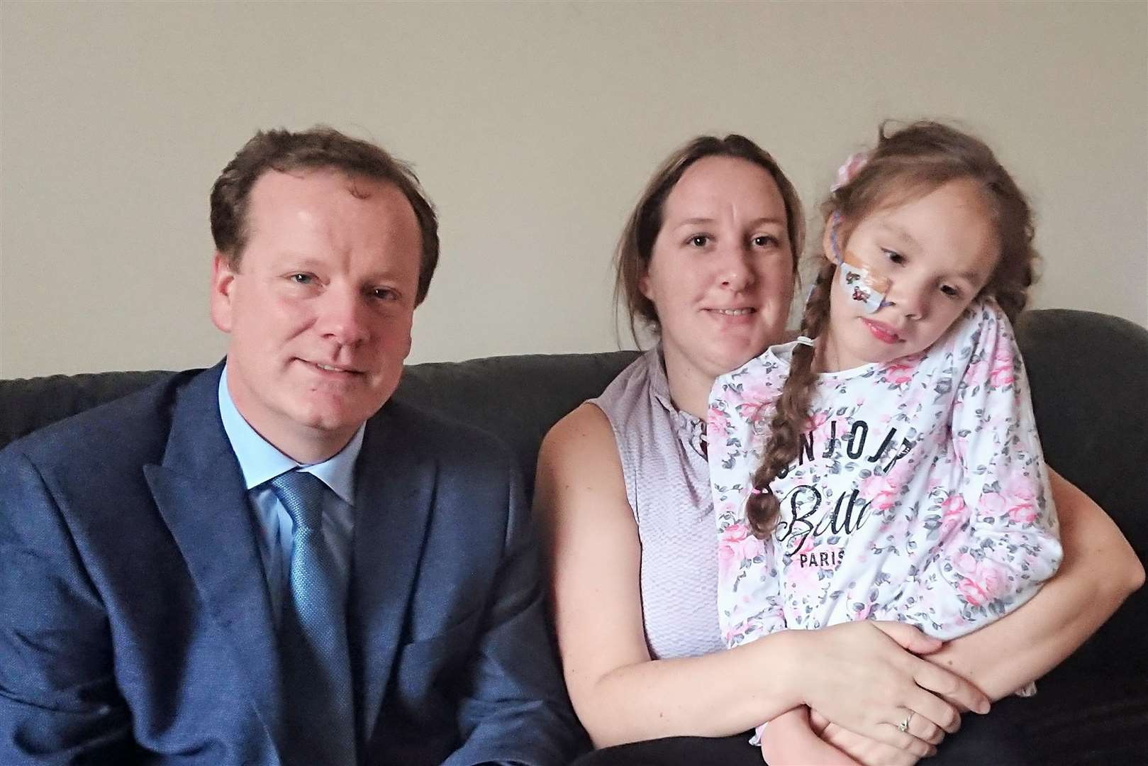 Charlie Elphicke with Emma and Teagan Appleby at their Aylesham home (5917259)