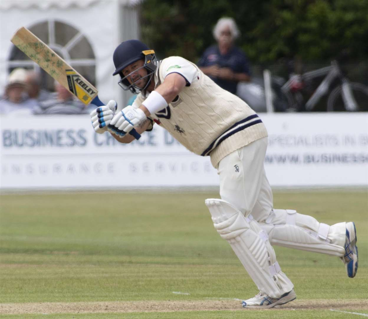 Runs have been hard to come by for Darren Stevens in the County Championship this summer. Picture: Andy Payton