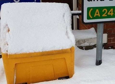 Snow joke: empty grit bins. Picture: Cameron Beart