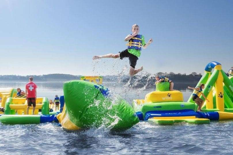 Tickets are available for the aqua park