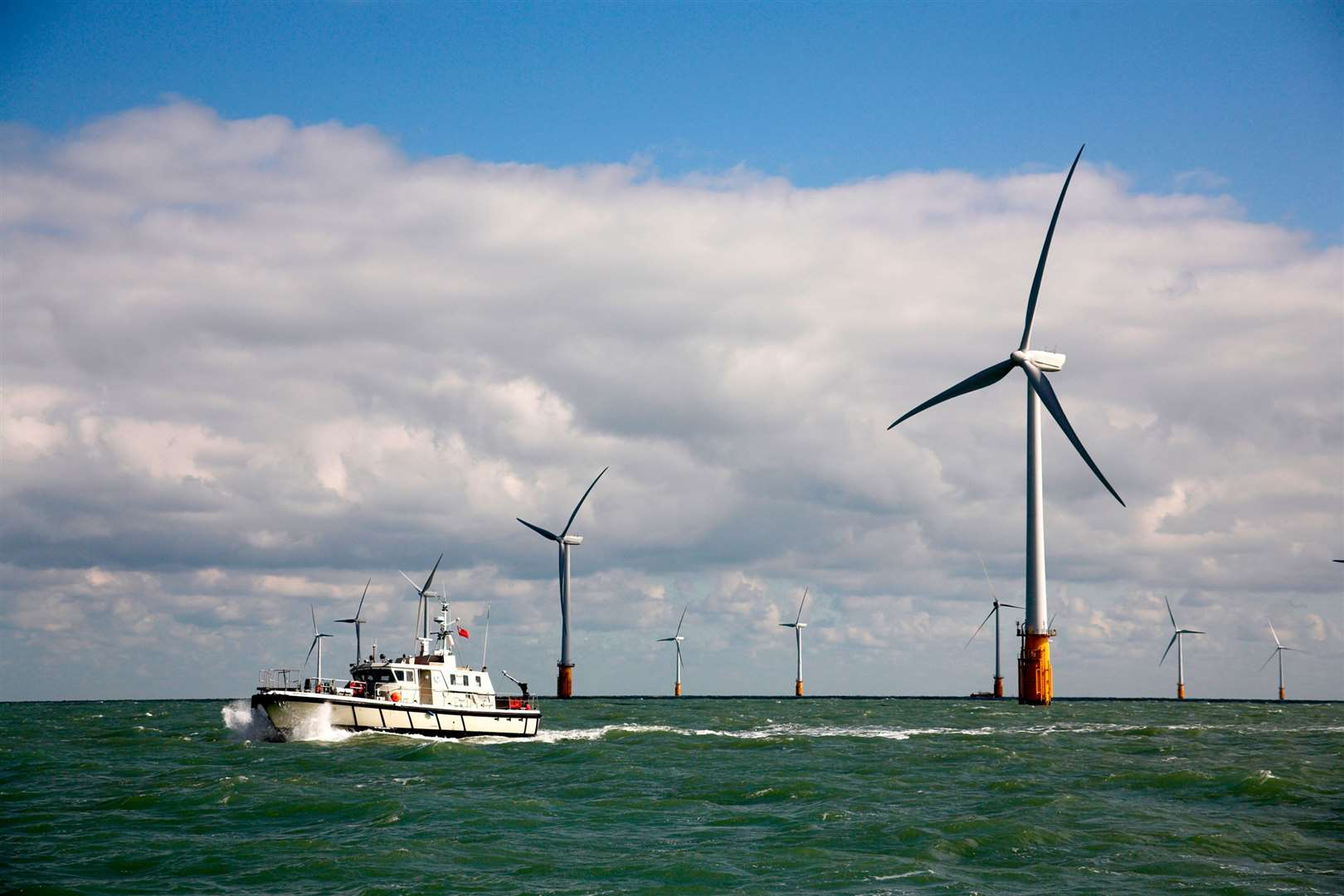 Thanet Offshore Wind Farm. Picture by Kenneth Fleming, Grayling PR.