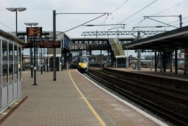 The unmanned station at Kingsnorth would have been a small stop on the Ashford-Hasting route