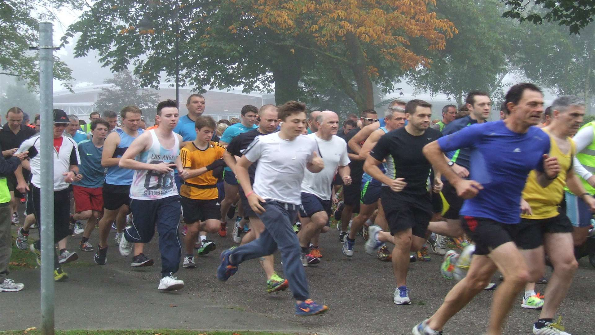 Runners in Ashford.