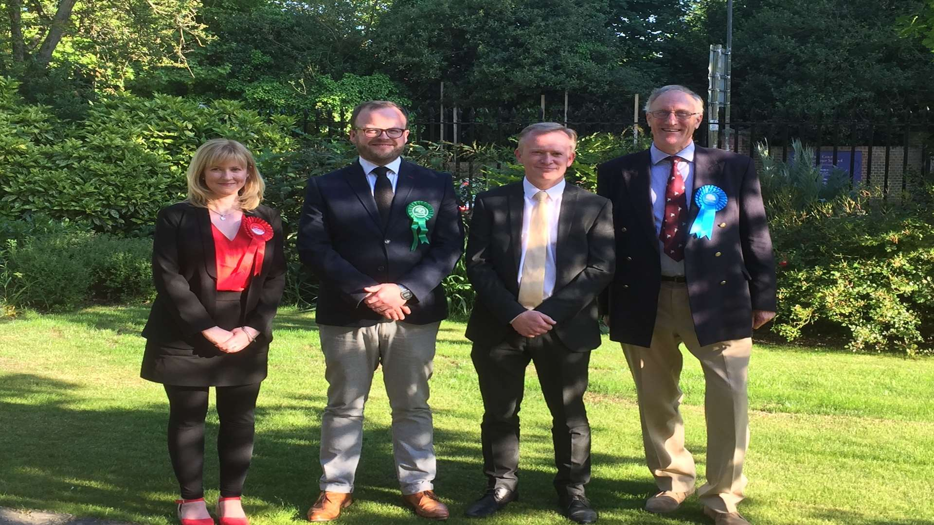 Labour candidate Rosie Duffield was joined by Henry Stanton of the Green Party, Lib Dem James Flanagan and Conservative Sir Julian Brazier,