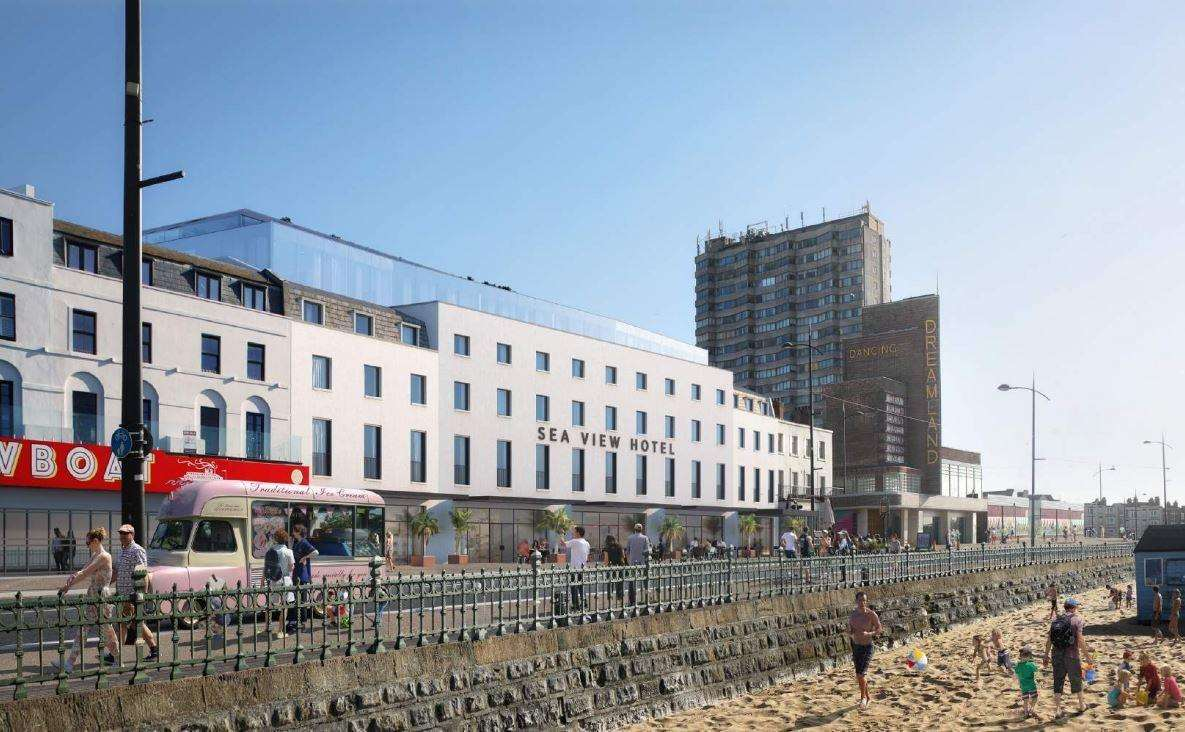 What the hotel could look like at Dreamland, Margate