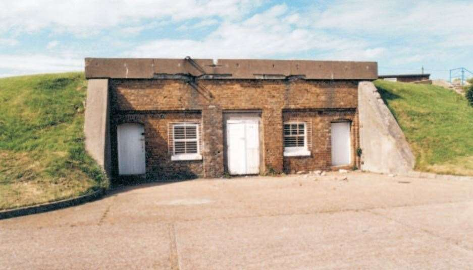 The entrance to the former Barton's Point Battery in Sheerness still stands. Picture: English Heritage