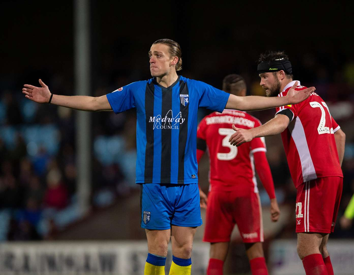 Gillingham striker Tom Eaves Picture: Ady Kerry