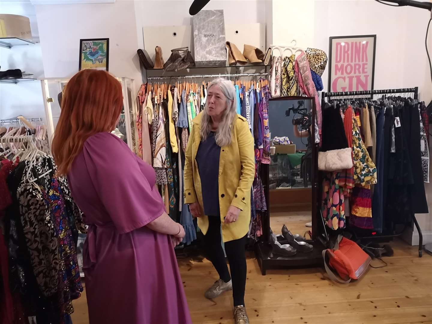 Mary Beard speaks to Deborah Ellis at Madam Popoff Vintage (4095299)