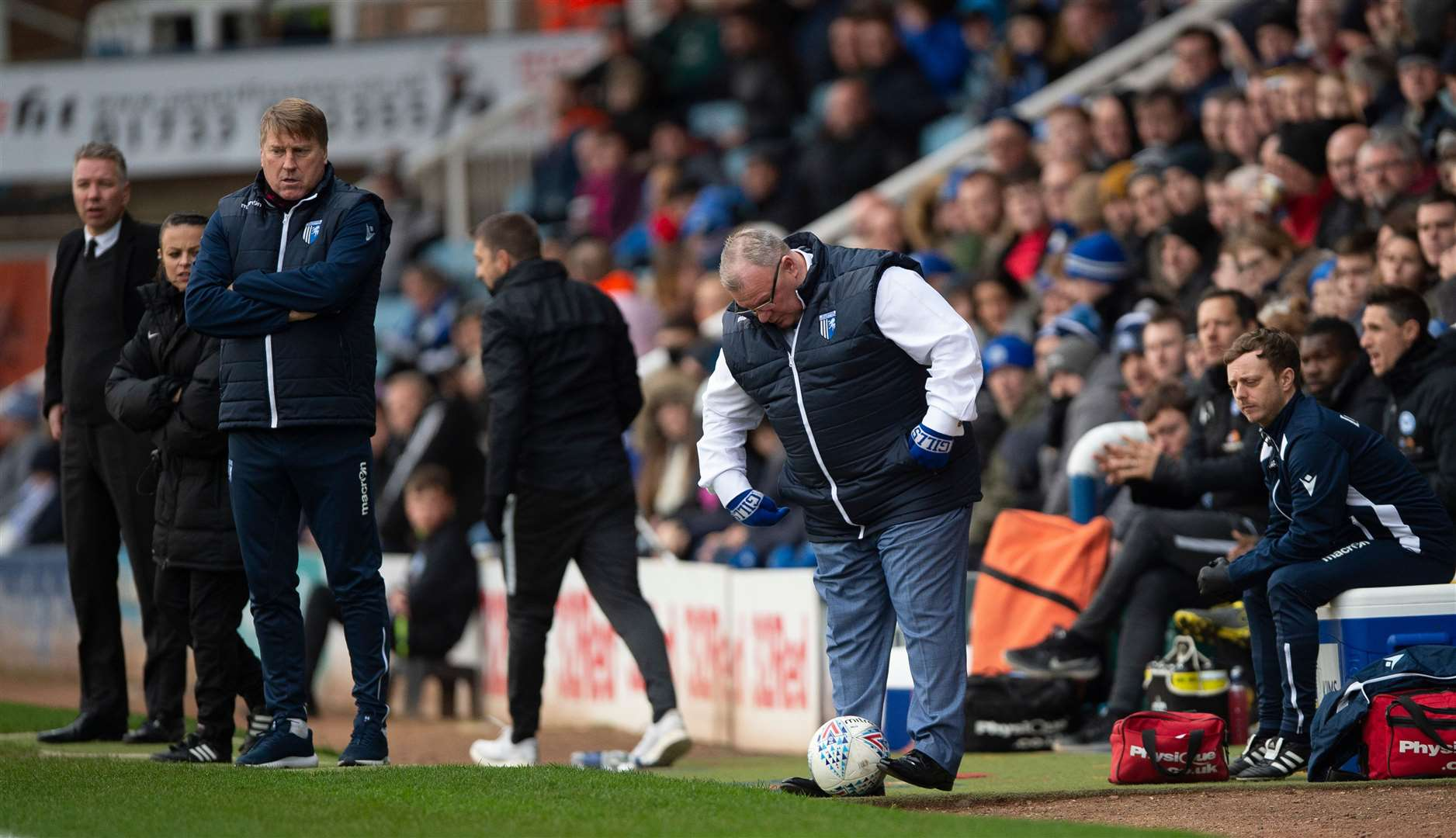 Steve Evans made his first return to London Road as manager since being sacked by Peterborough United Picture: Ady Kerry
