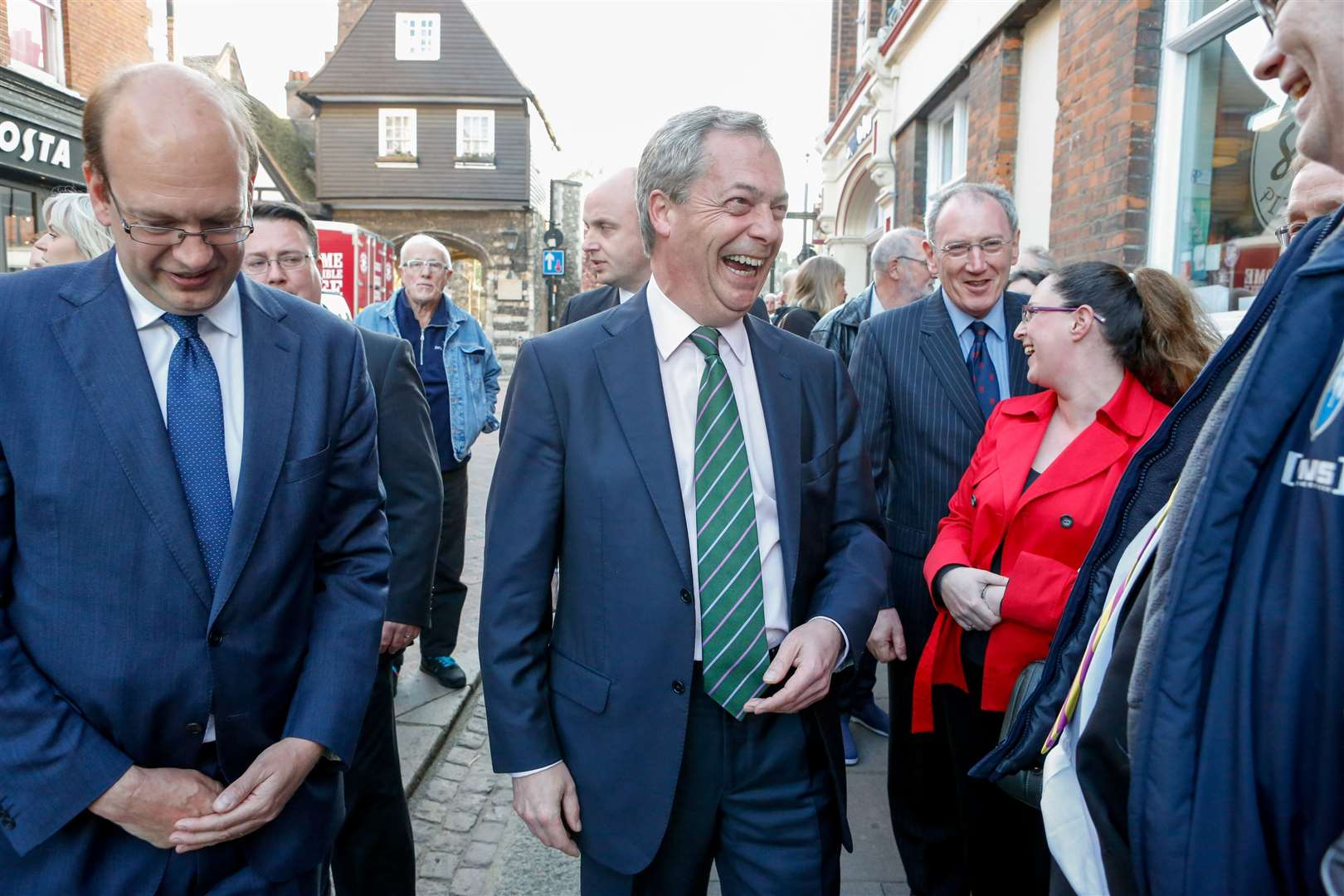 Nigel Farage in Rochester with Mark Reckless in the run up to the Rochester and Strood by-election