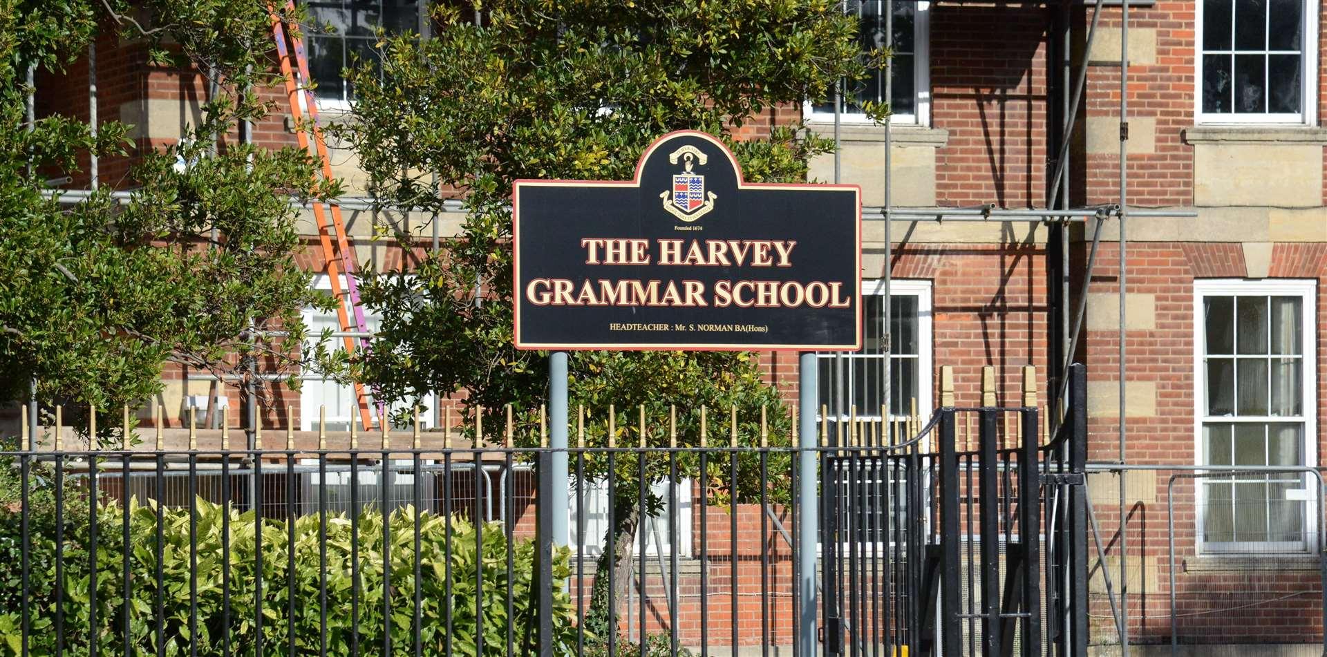 The Harvey Grammar School in Folkestone. Picture: Gary Browne