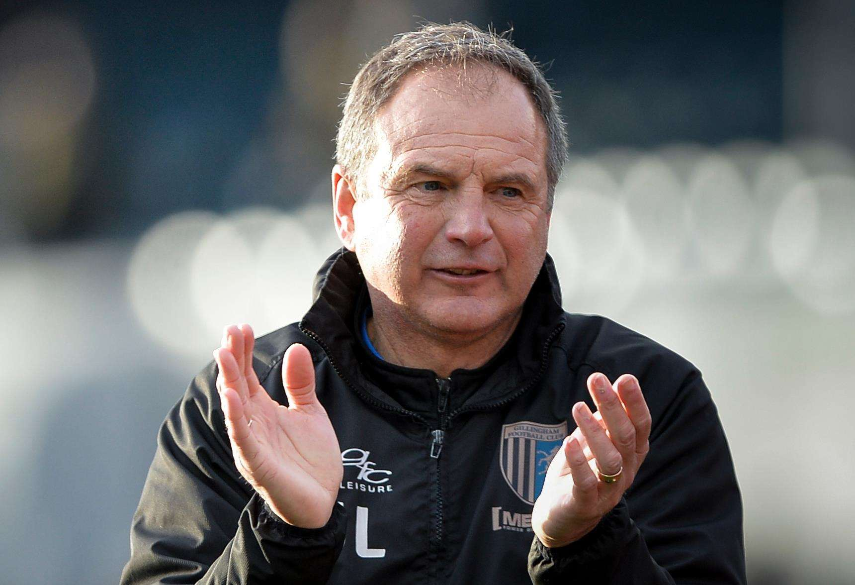 Gillingham manager Steve Lovell will be hoping for more applause against Spurs under-21s Picture: Ady Kerry