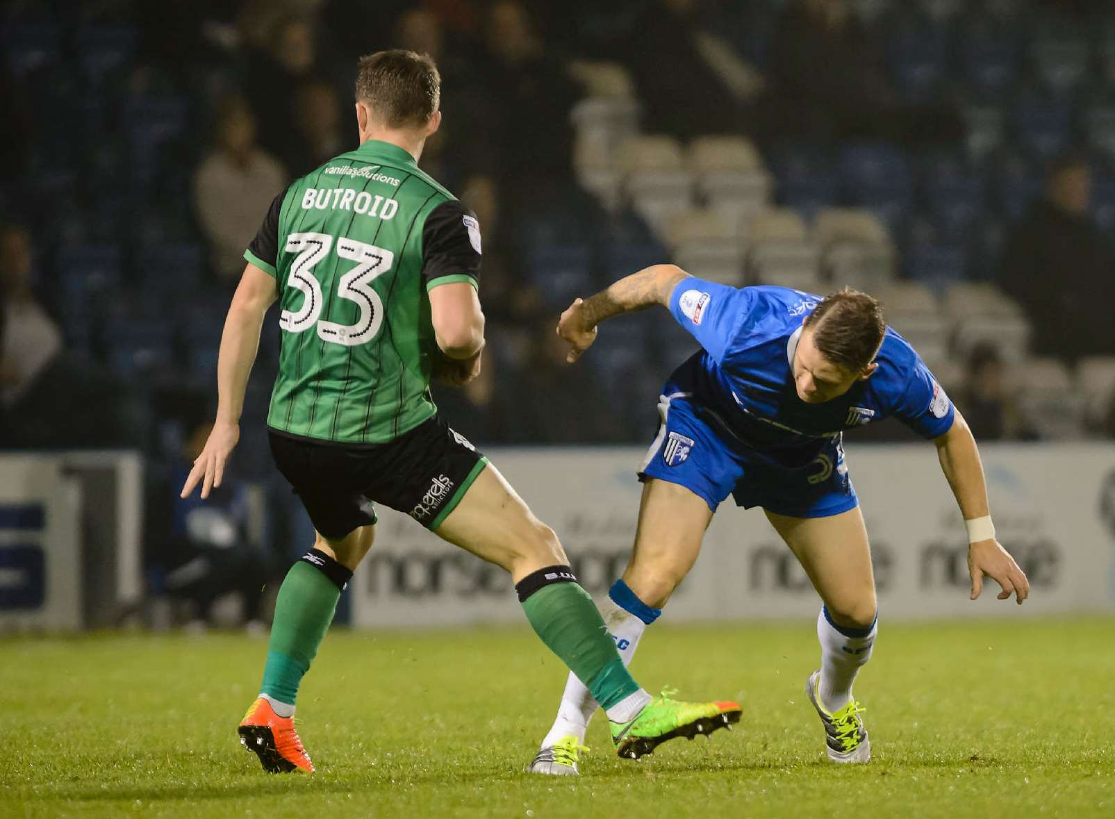 Mark Byrne in action for the Gills Picture: Andy Payton