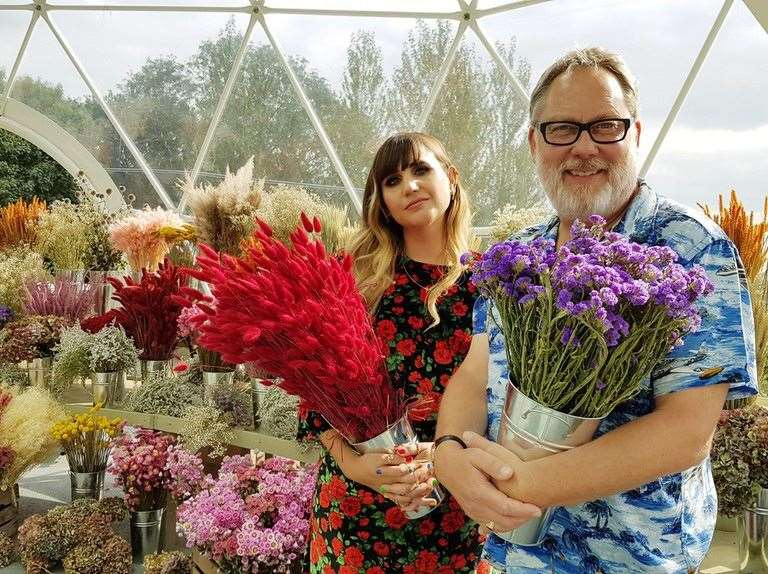 Vic Reeves and Natasia Demetriou host the Big Flower Fight