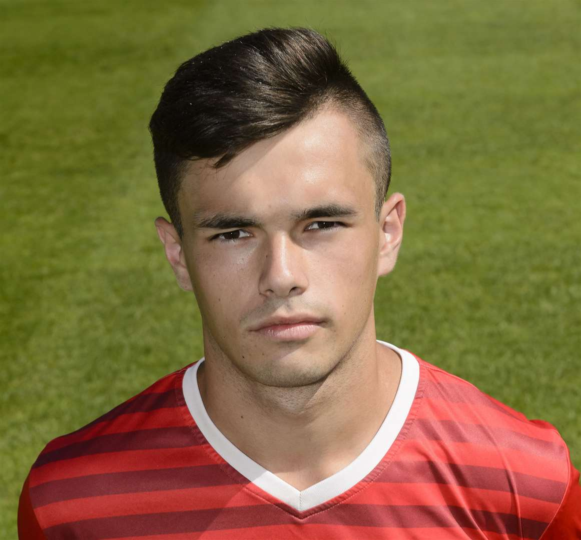 Ex-Gills youngster George Sheminent scored direct from a corner for Chatham Picture: Andy Payton