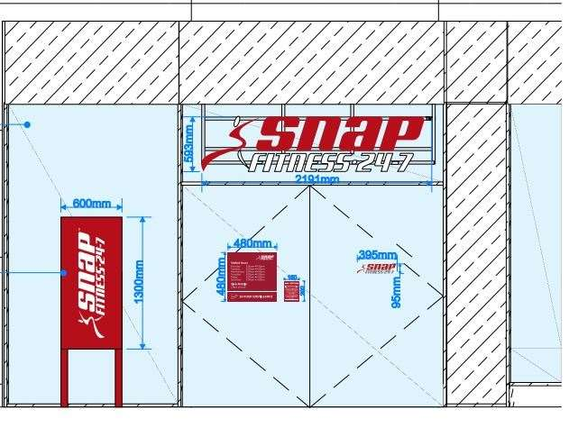 How the Snap Fitness signage could look