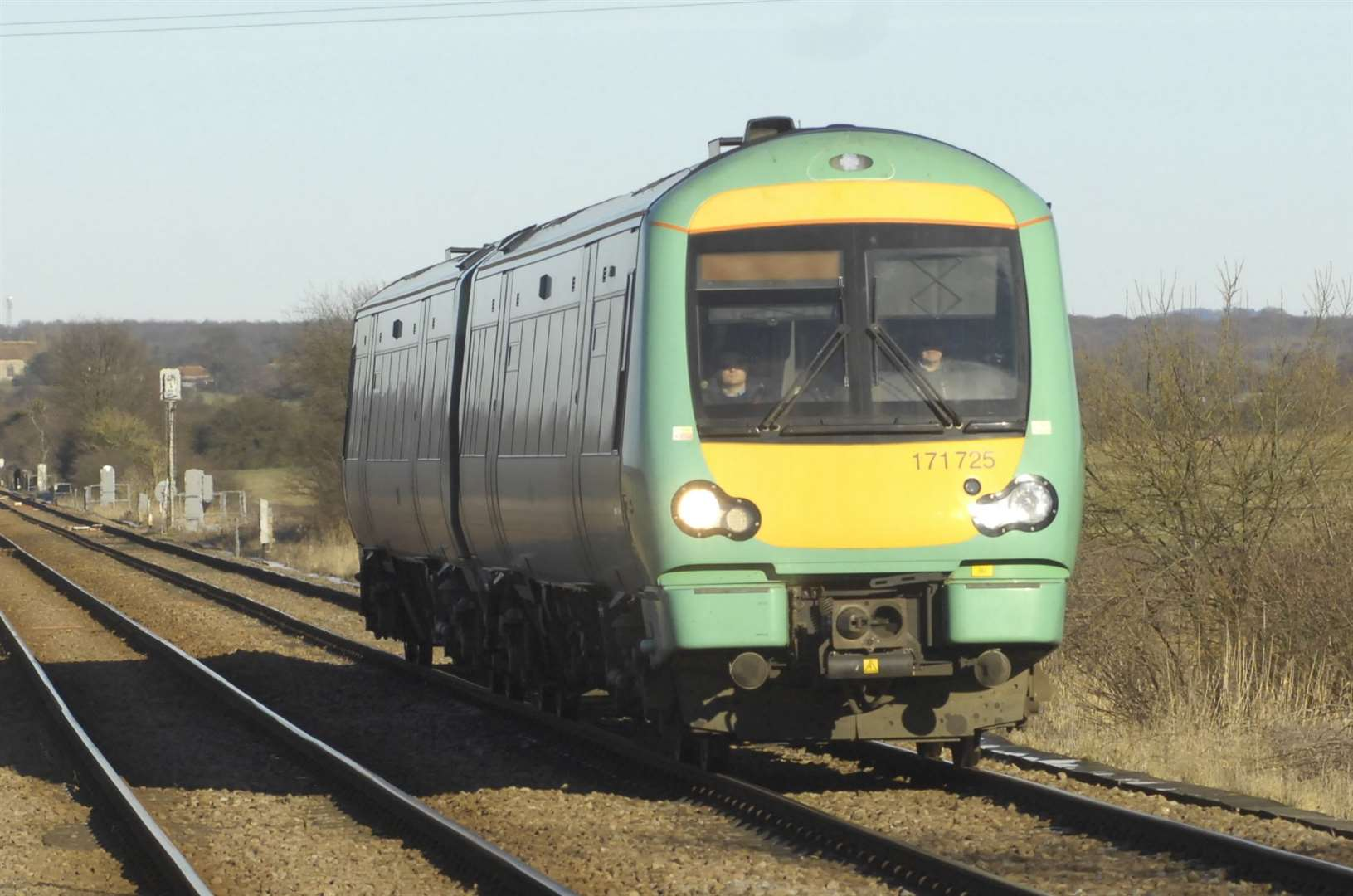 A Southern train came off the tracks at sidings in Tonbridge. Stock pic.