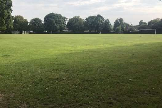 The football pitch belonging to Homewood School