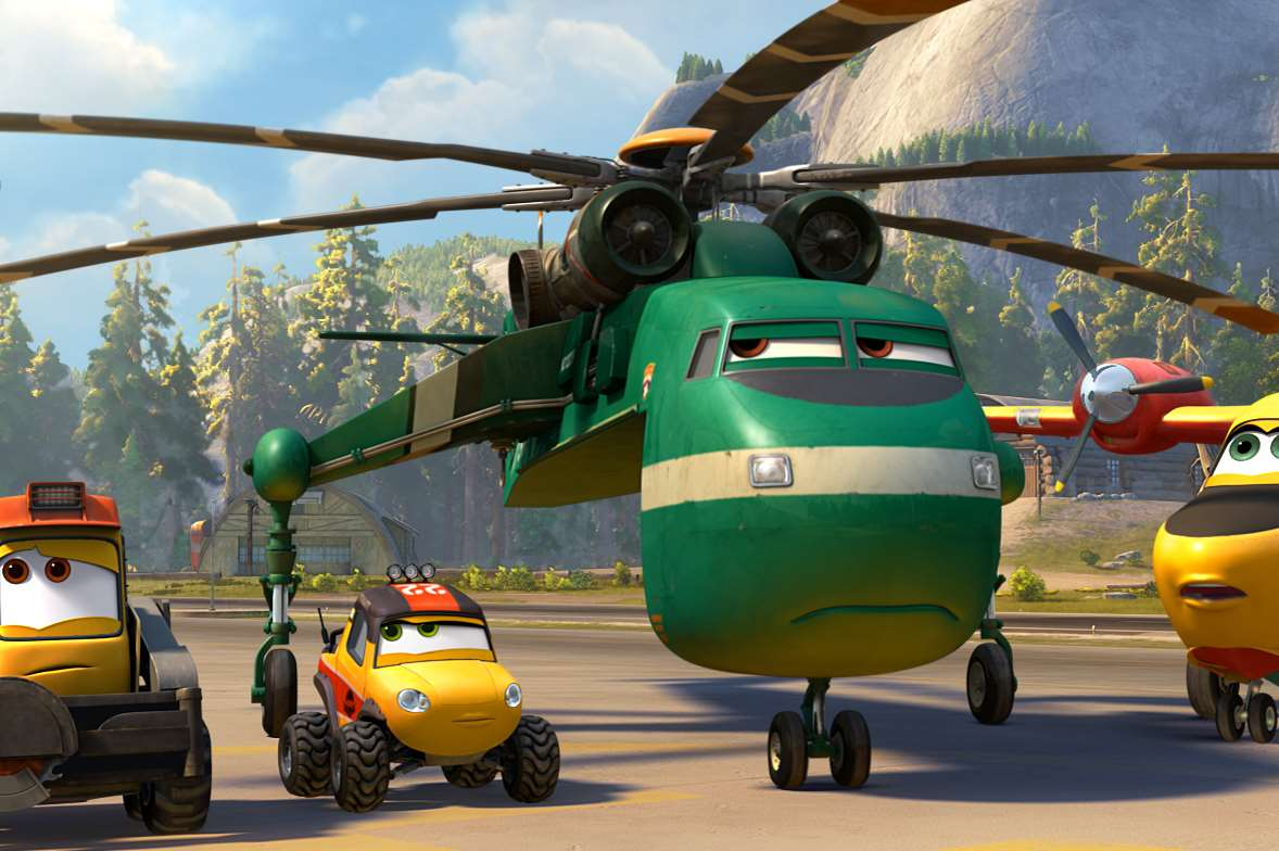 Planes 2: Fire & Rescue, Blackout, Dynamite, Windlifter & Dipper. Picture: PA Photo/Walt Disney Studios Motion Pictures UK