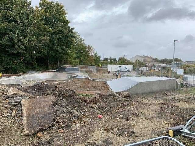 Sittingbourne's new skatepark is hoped to open by the end of 2019