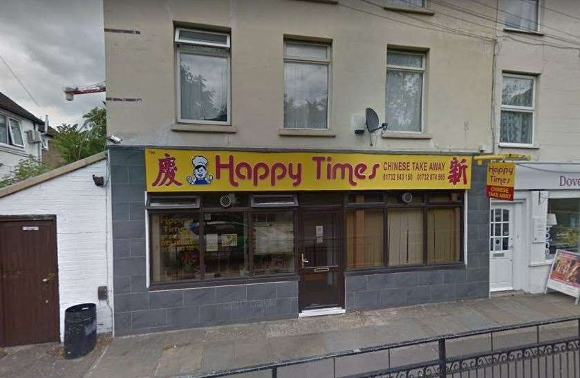 Happy Times Chinese takeaway in London Road, Larkfield. Picture: Google