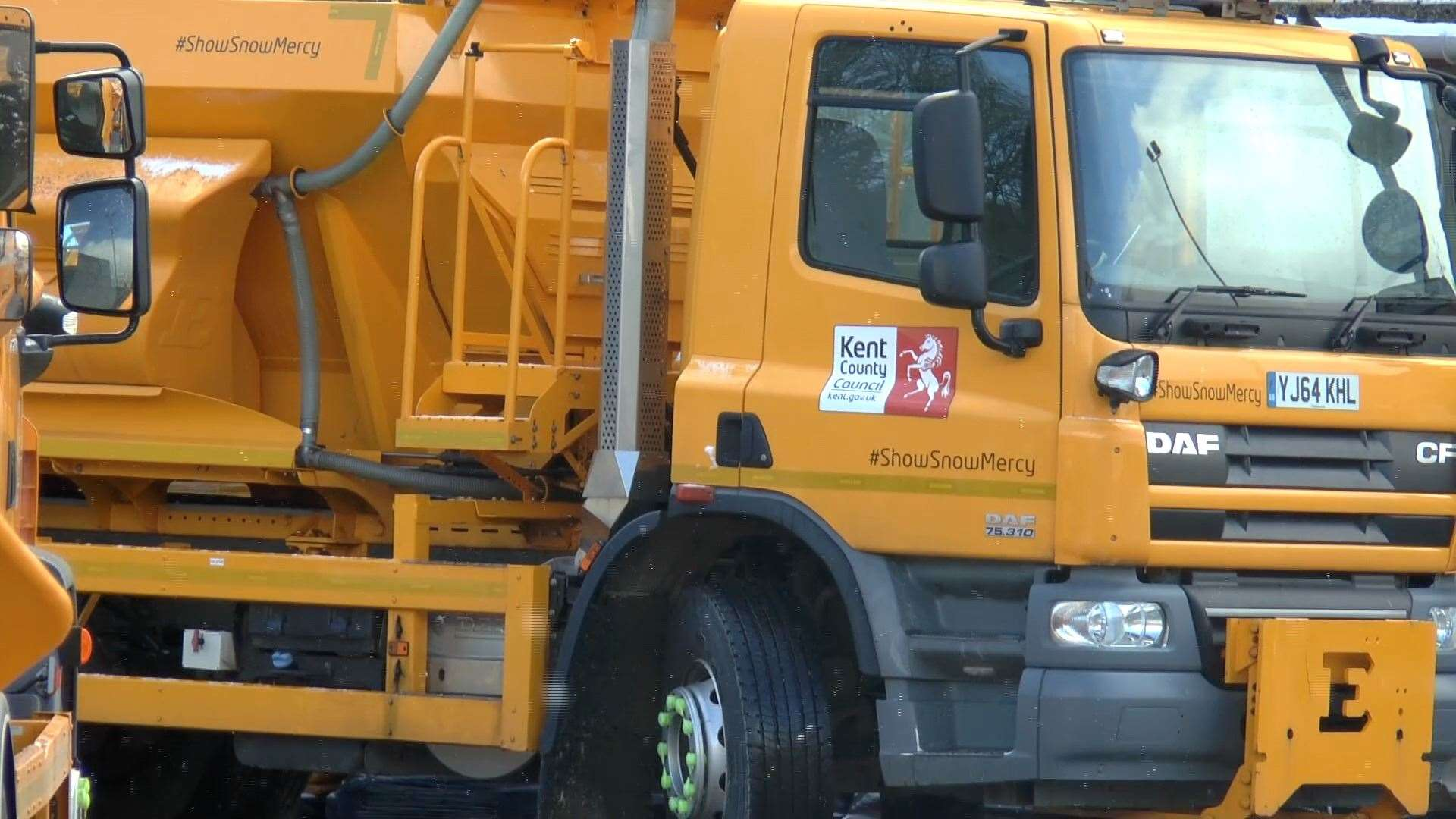 Road gritting takes place tonight