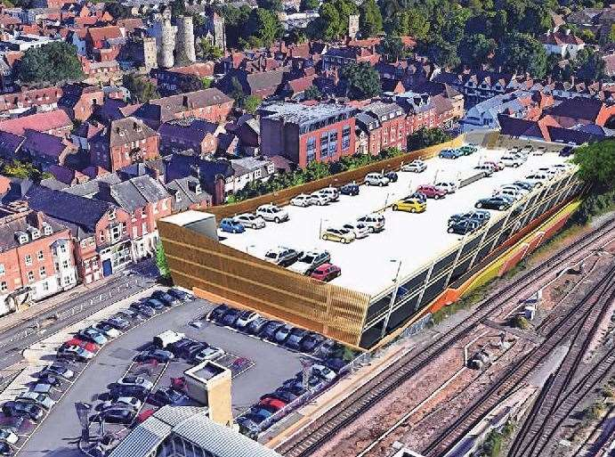 the proposed multi-storey car park in Station Road West, Canterbury (12067587)