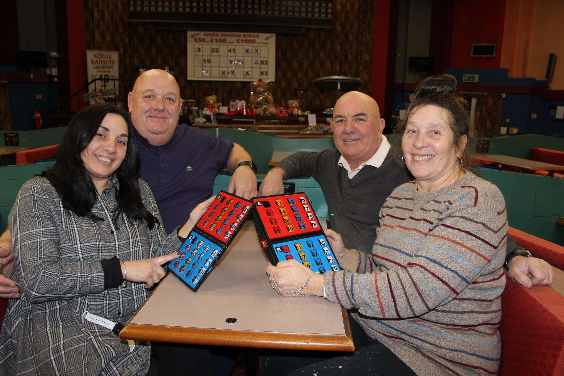 Eyes down for new owners: Minnie McCoy, left, and her husband Tom have taken over Kings Bingo Club in Sheerness Broadway with help from her parents Jayne and Miguel Garcia (7069404)